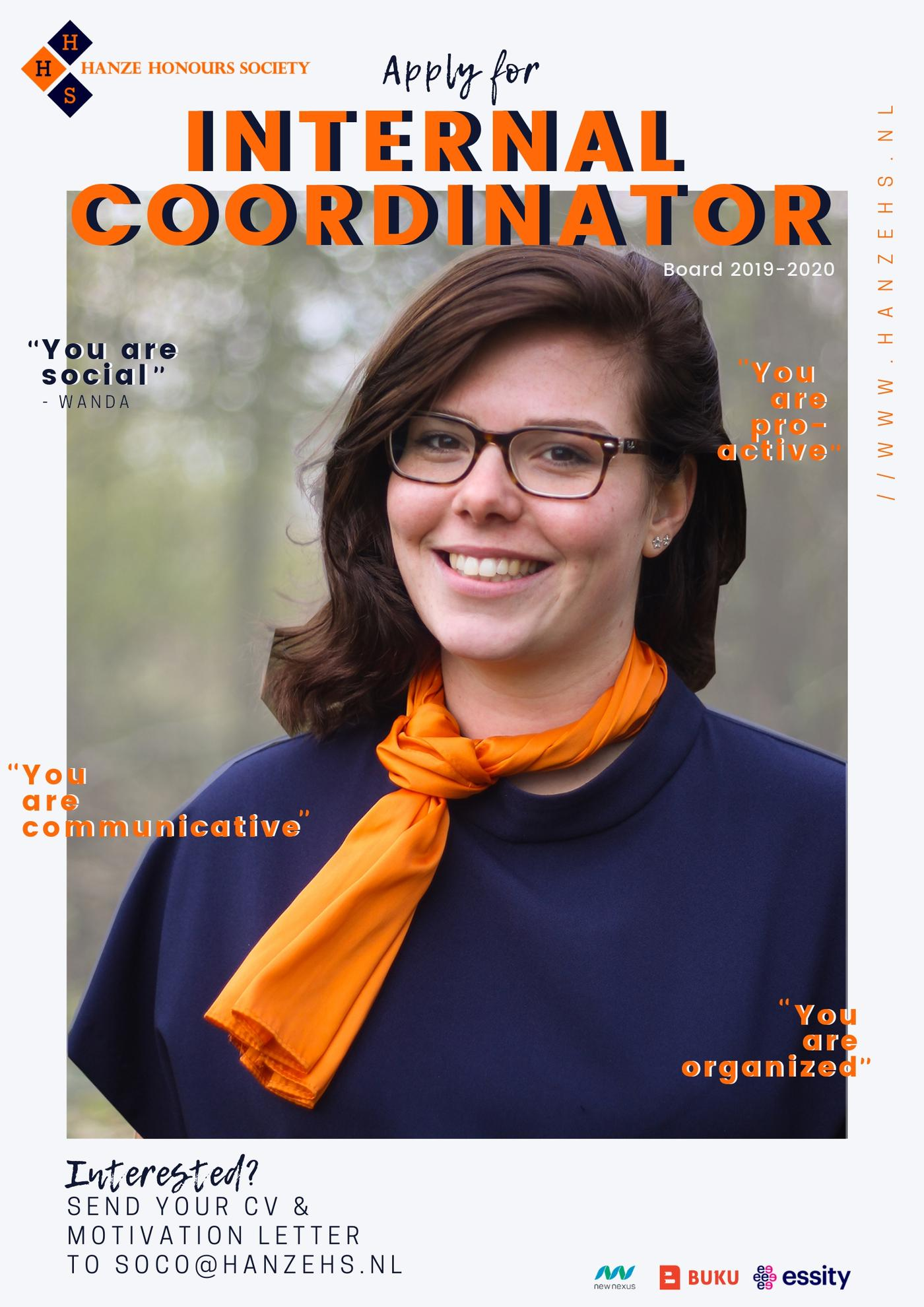 Are you our next internal coordinator?