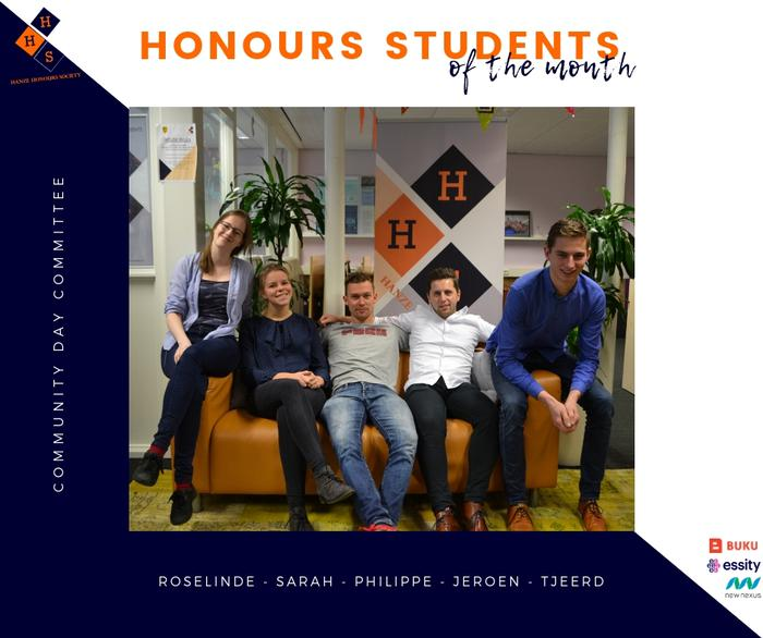 Honours students of January